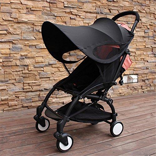 iBaste Baby Kinderwagen Sonnenschutzrollos für Babyschale Sonnenverdeck Rollvorhang Sonnenschutz Tuch Buggy Canopy