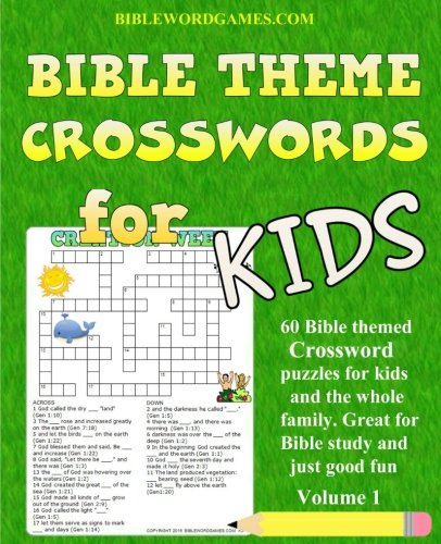 Kids Bible Theme Crossword Puzzles Volume 1: 60 Bible themed