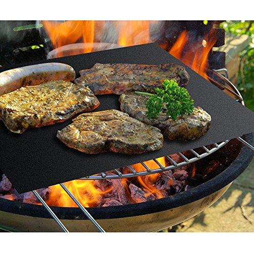 Set di 3Barbecue Grill Mat, Italica 40x 33cm Barbecue Grill Mats Resistente antiaderente