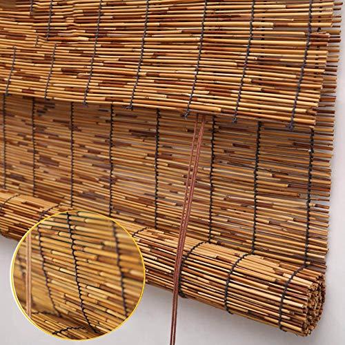 GaoLP Bambusrollo,Natürliches Reed Rollo - Shade Vorhang,Privatsphäre Partitionen,Korrosionsschutz/Wasserdicht,20 X 24/24 X 43/32 X 43 Zoll (Tür-fenster-vorhang-24 X 36)