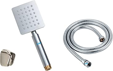 AAI Ultrathin Square Stainless Steel Hand Shower With Hose And Wall Bracket Complete Set