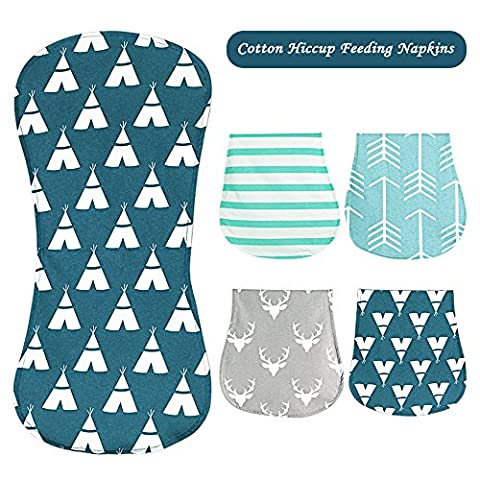 Unisex Baby Burp Cloths Set of 4 Packs for Drooling