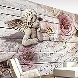 murando - Fototapete 200x140 cm - Vlies Tapete - Moderne Wanddeko - Design Tapete - Wandtapete - Wand Dekoration - Engel Rose f-A-0313-a-a