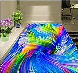 Weaeo 3D-Bodenbeläge Bunte Swirl Illusion Von Stereoskopischen 3D-Stock 3D-Pvc Wallpaper 3D Malerei Wallpaper 120 X 100 Cm