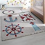 Kinderteppich Kinderzimmer Teppich mit Motiven Marine Kids 0510 Beige - 160x230 cm
