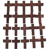 20pcs vintage croce pendenti in legno crocifisso per fai da te collana braccialetto creazione di gioielli accessori unisex