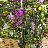 Décor Line Décor Line Feld Blumen Tischdecke, PVC, ohne, 140 x 240 cm