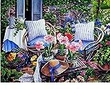 Hilfsrahmen Gardan Blume DIY Malen Nach Zahlen Acrylbild Handgemalte Ölfarbe Moderne Wandkunst Bild Kunstwerk 40x50 cm