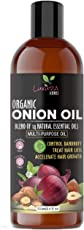 Onion Hair Oil 250 ML with 14 Essential Oils , Onion Seed Hair Oil For Hair Growth, Hair Treatment with Argan , Bhringraj, Hibiscus Oil, Sesame,Amla,Sweet Almond, Olive and Jojoba Oil. Contains Shea and Kokum Butter.