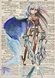 Anime/Manga Girl Warrior Princess Dictionary Art Ruled/Lined Notebook (7x10 Inches): Classic Lined Notebook/Journal with Japanese Anime Character Drawings Stylized Cover (100 Pages)