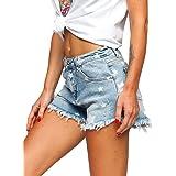 BOLF Donna Pantaloni Corti Jeans Denim Strappati Bermuda Shorts Estivi Slim Fit Casual Style Mix G7G