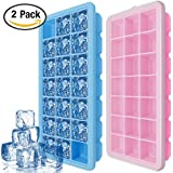 Eiswürfelform Mit Deckel, IHUIXINHE 21-fach Eiswürfel, 2er Pack Silikon Ice Tray Ice Cube, BPA frei Eiswürfelbox