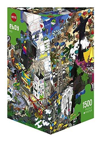 Heye 29575 - Dreieckspuzzle, eboy, Rio, 1500 Teile -