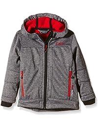 CMP - Chaqueta para niño, tejido Softshell, todo el año, niño, color Negro - Nero Mel.-Ferrari, tamaño 8 años (128 cm)