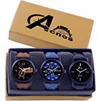 Acnos Analog Multi-Colour Dial Men's Watch - LR-COMBO-01-02-05