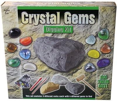 Crystal Gems Digging Excavation Kit Gemstones Set by Toysgifts