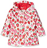 Hatley Girl's Strawberry Sundae Raincoat, Multicoloured (White), 3 Years Bild 1
