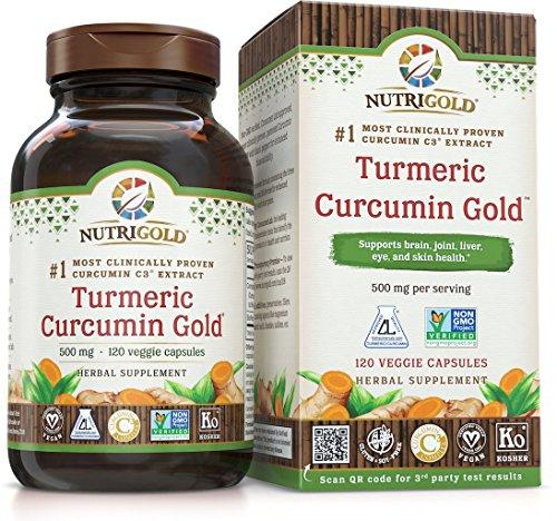 Nutrigold Turmeric Curcumin Gold (Características C3 W Complejo / Bioperine),500