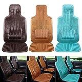 Massagesitzauflage Massage Autositzkissen Sitzauflage Auto Holzkugeln Massage Holzperlen Sitzauflegermit Taille Kissen,mit angenehmen Massageeffekt durch die Holzkugeln ,für Autositz(Aus PVC)