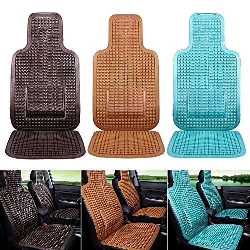 Massagesitzauflage Massage Autositzkissen Sitzauflage Auto Holzkugeln Massage Holzperlen Sitzauflegermit Taille Kissen,mit angenehmen Massageeffekt durch die Holzkugeln ,für Autositz,Bürostühle