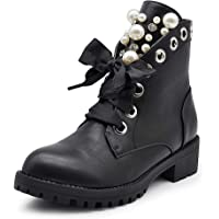 IF Fashion Stivaletti Stivali Invernali Scarpe da Donna Lacci Anfibi Strass IF163