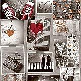 Muriva Tapete a10310Bronze Love Rocks Tapete–Orange