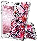 OCYCLONE Coque iPhone 7 Plus Fille, iPhone 8 Plus Fille, Paillette Liquide Glitter...
