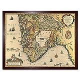 Map Janssonius 1644 South Norway Stavanger Bergen Art Print