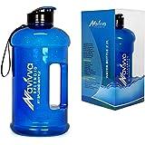 NAVIVVA Trinkflasche Sport | 2L Wasserflasche | Spülmaschinenfest | Groß Sportflasche - Auslaufsicher, BPA Frei, Transparent, Taff & Praktisch - Große Drinkflasche für Fitness Gym Heim oder Büro