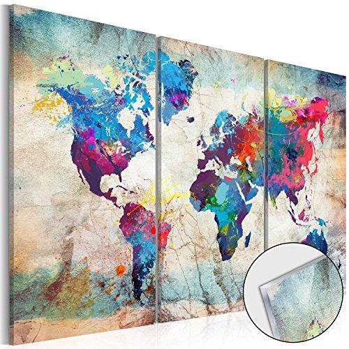 murando - Acrylglasbild Weltkarte 120x80 cm - 3 Teilig - Bilder Wandbild - modern - Decoration k-A-0178-k-e