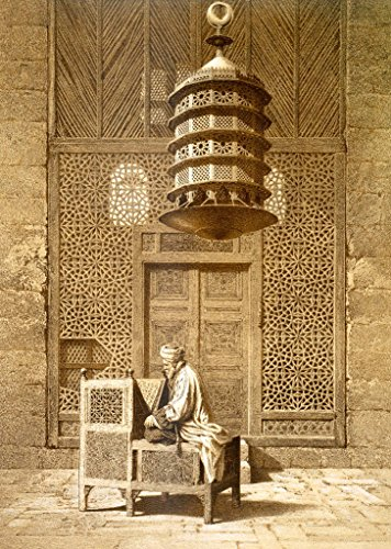 "Kunstdruck/Poster: Maurice KeatingAn Imam reading the Koran in the Mosque of the Sultan, Morocco, 1817"" - hochwertiger Druck, Bild, Kunstposter, 50x70 cm"