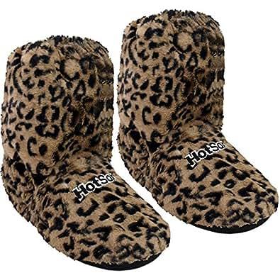 Original Hot Sox - chaussons chauffants, en hauteur d'une chaussette, Supersoft, taille M/36-40 léopard