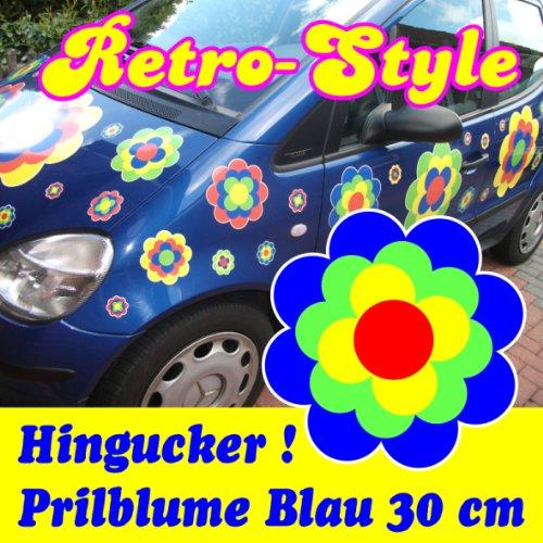 Pegatinas Pril Flores Pril Flores retro style azul 30cm