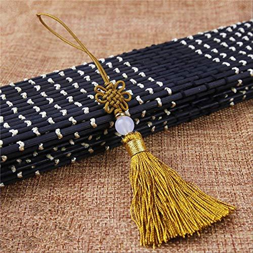 Wbdd Chinesische Knoten 5pcs Rand Anhänger DIY Handwerk Material Trim Vorhang Dekoration Zubehör Gold Quasten -