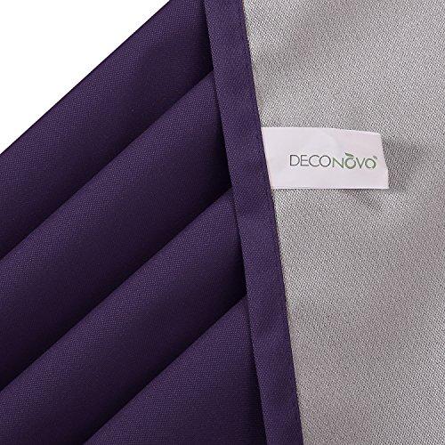 Deconovo Thermogardinen mit Ösen Oxford Vorhang für Schlafzimmer 240×140 cm Dunkellila - 6