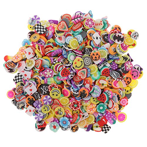 Set Acryl 1000 Nail (Homyl 1000er-Set gemischte Nagel Sticker Nagelspitzen Dekoration Aufkleber - Frucht)