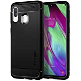 Spigen Rugged Armor Compatible for Samsung Galaxy A40 Case Cover - Black
