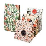 Sacchetto del regalo del modello di fiore 12PCS, sacchetti colorati del partito della carta kraft per i dolci, i biscotti, i dadi, i regali di Natale dei cioccolatini, nozze o anniversario