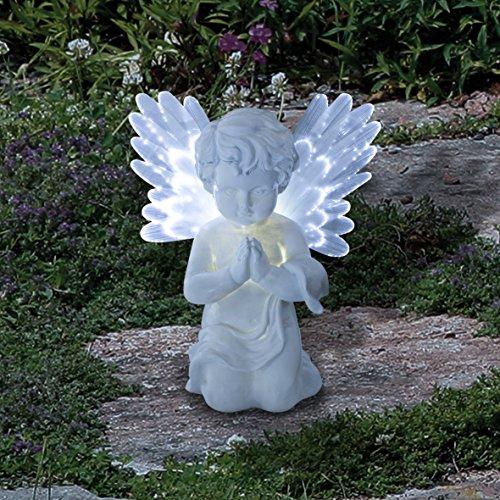 Garden Kraft 12680Solar Cherub-Weiß