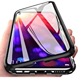Magnetic Adsorption Case with Double Tempered Glass Full Screen Front and Back Metal Frame Aluminium Housing Bumper Flip Cove