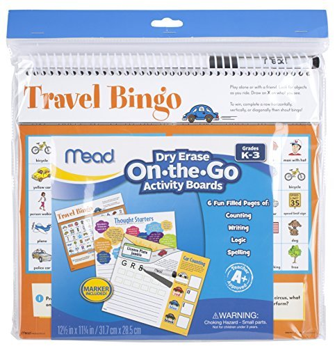 Mead On-The-Go Activity Dry Erase Board, Grades K-3 (54074) by Mead