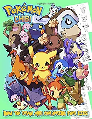 Pokemon CHIBI How To Draw And Coloring For Kids: Premium Book, Lern to Draw and Coloring For Kids por Independently published