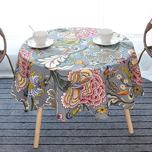 Tovaglia tovaglie rotonde, tovaglie tonde nazionali in cotone e lino ( colore : #3 , dimensioni : 110*110cm )