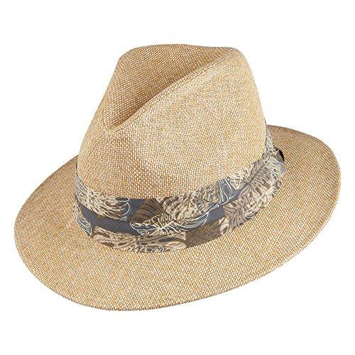 Village Hats Chapeau Fedora Matte Toyo Tropical Beige Dorfman Pacific - Large/X-Large