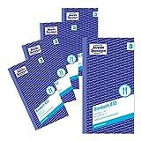 Avery Zweckform 833-5 Bonbuch (Kompaktblock mit je 300 Bons, Kellner-Nr. 3) 2x50 Blatt, 5 Bücher, rot/weiß
