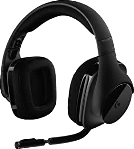 Logitech G533 kabelloses Gaming-Headset, 7.1 Surround Sound, DTS Headphone:X, 40mm Treiber, 2.4 GHz Wireless, Noise-Cancelling Mikrofon, Wireless Verbindung, 15-Stunden Akkulaufzeit, PC/Mac, Schwarz