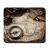 Cafepress – vintage still Life con bussola, Sextant – Gomma antiscivolo mouse, Gaming Mouse pad