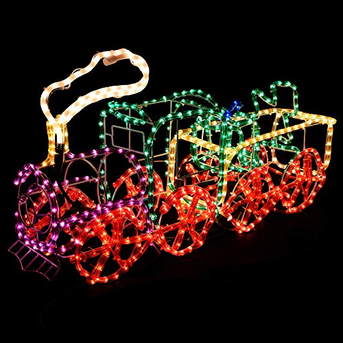 Werchristmas 95 cm large 3d train with flashing wheel and smoke rope werchristmas 95 cm large 3d train with flashing wheel and smoke rope lights aloadofball Choice Image