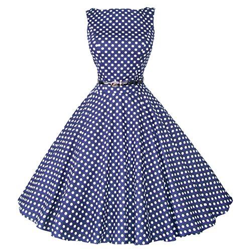 Maggie Tang Femmes Robe tulle 1950s Vintage - Blue White