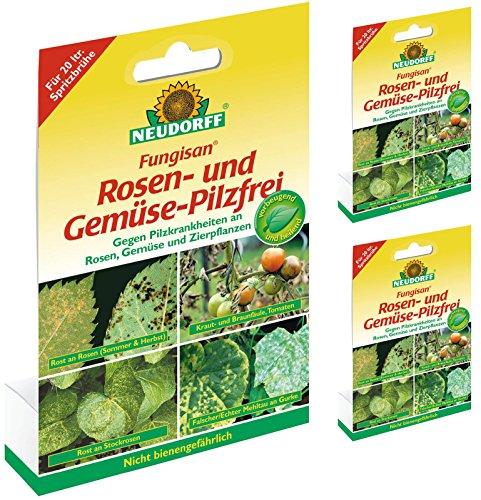 3 x 16 ml Neudorff Fungisan Rosen- und Gemüse-Pilzfrei